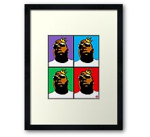 HIP-HOP ICONS: NOTORIOUS B.I.G. (4-COLOR) Framed Print