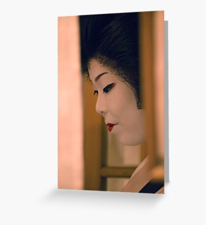 Hiding Geisha Greeting Card