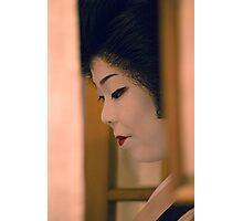 Hiding Geisha Photographic Print