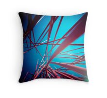 Red Stix Throw Pillow