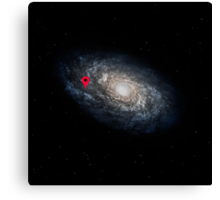 We Are Here! Galactic Location Canvas Print