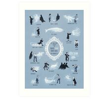 A Guide to Rare and Unusual Patronuses Art Print