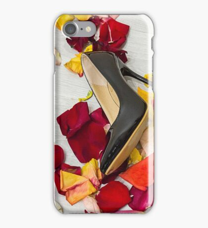 After masquerade - shoes, mask and rose petals iPhone Case/Skin