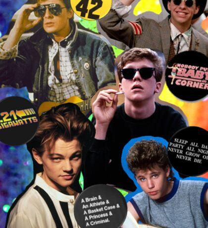 80's & 90's Movie Actors Collage Sticker
