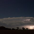 Lightning looking east from the southern Yorke Pensinsula by Craig Watson