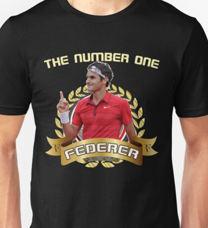 Roger Federer The number One. Unisex T-Shirt