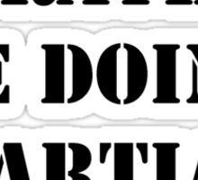 Right Now, I'd Rather Be Doing Martial Arts - Black Text Sticker