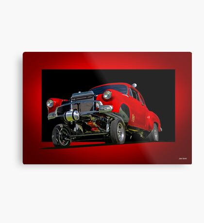 1951 Chevy Gasser 'Bugs Eye View' Metal Print