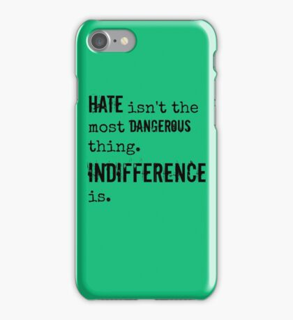 Hate/Indifference - Delirium trilogy iPhone Case/Skin
