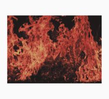 Fire and Flame - Color and Danger Background  Kids Clothes