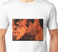 Fire and Flame - Color and Danger Background  Unisex T-Shirt