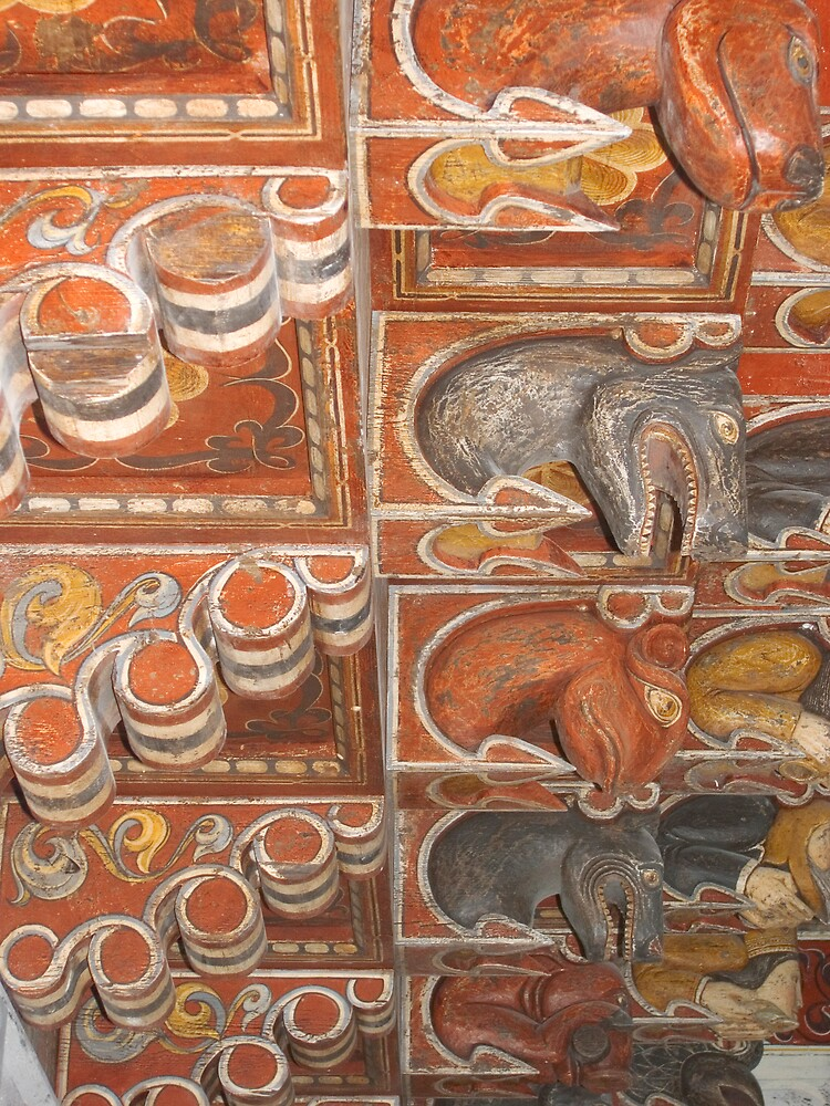 Detail from canecillos. by Blas Quesada Ruiz
