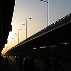 Freeway Sunset by David Sundstrom