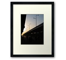Freeway Sunset Framed Print