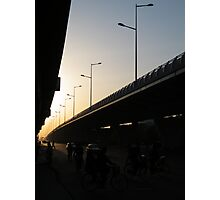 Freeway Sunset Photographic Print