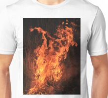 Fire and Flame Background - Hot Beauty Unisex T-Shirt