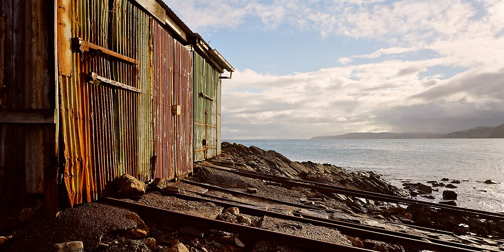 Boatsheds at Second Valley by mgimagery