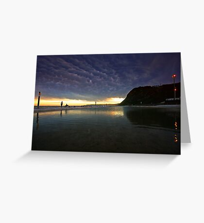Merewether Ocean Baths at Dusk Greeting Card