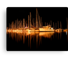 Yachts in Sandy Bay Canvas Print