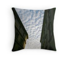 Cloudy Over Old Town Throw Pillow