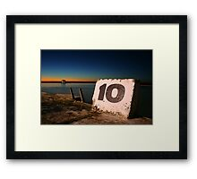 Ten Framed Print