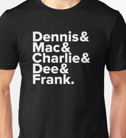 It's Always Sunny - Names (White) Unisex T-Shirt
