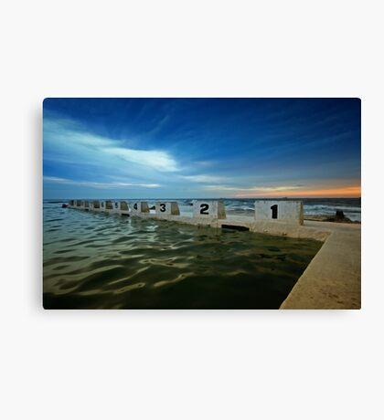 Merewether Ocean Baths at Dusk 2 Canvas Print