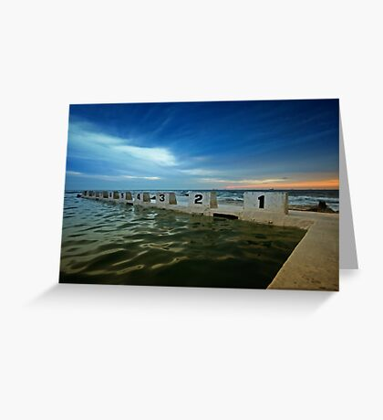 Merewether Ocean Baths at Dusk 2 Greeting Card