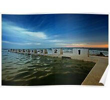 Merewether Ocean Baths at Dusk 2 Poster