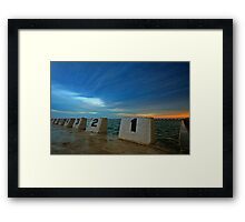 Merewether Ocean Baths at Dusk 3 Framed Print