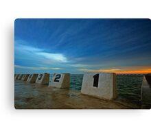 Merewether Ocean Baths at Dusk 3 Canvas Print