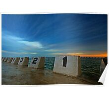 Merewether Ocean Baths at Dusk 3 Poster