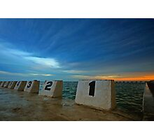 Merewether Ocean Baths at Dusk 3 Photographic Print