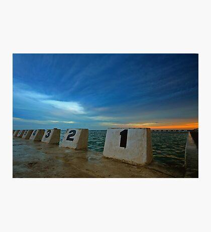 Merewether Ocean Baths at Dusk 3 Photographic Print