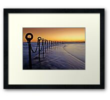 Post & Chains at Dusk Framed Print