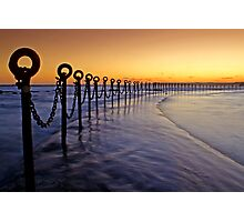 Post & Chains at Dusk Photographic Print