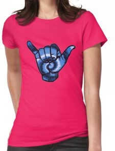 Tie Dye Hang Loose - blue Womens Fitted T-Shirt