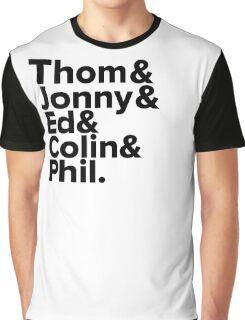 Radiohead Names (Black) Graphic T-Shirt