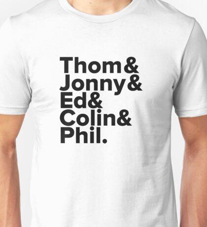 Radiohead Names (Black) Unisex T-Shirt