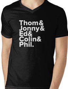 Radiohead Names (White) Mens V-Neck T-Shirt