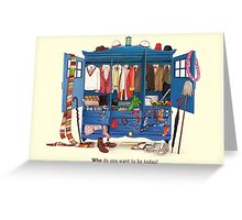 The Who-drobe Greeting Card