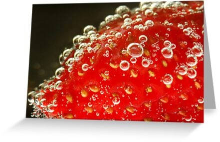Red bubbles by Stephen Colquitt