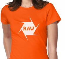 I shoot Raw Womens Fitted T-Shirt