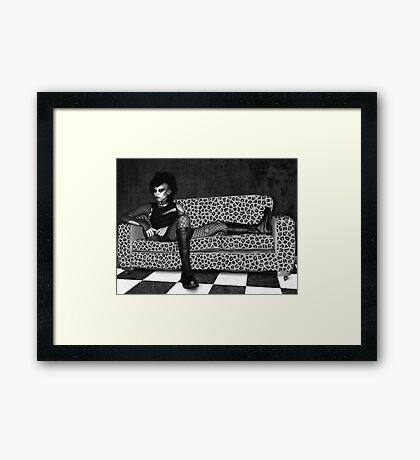 Reclining Goth Framed Print