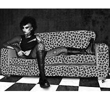 Reclining Goth Photographic Print