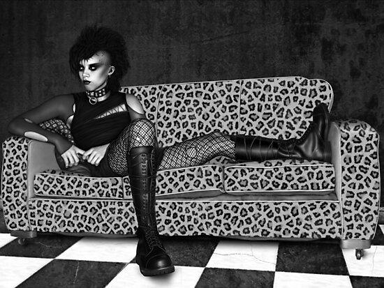 Reclining Goth by Ivy Izzard
