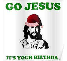 JESUS BIRTHDAY CHRISTMAS Poster
