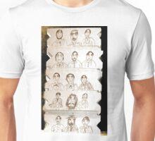 15 men, drawing on cardboard Unisex T-Shirt