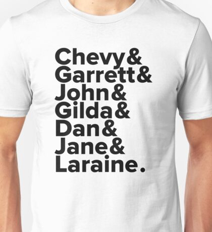 SNL _ Not Ready For Primetime Players (Black Letters) Unisex T-Shirt