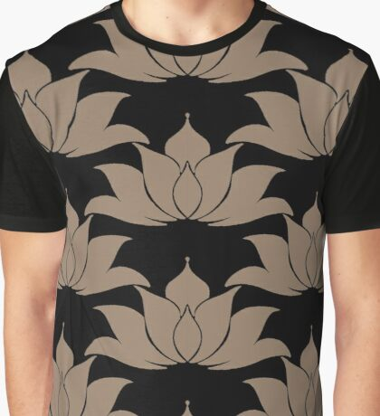 Lucky Lotus Gold Black Graphic T-Shirt